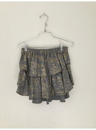 IVY SKIRT- BLACK GRAFFITI