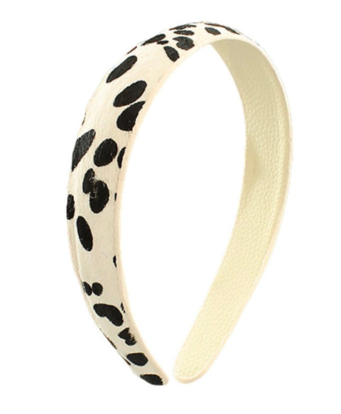 COW PRINT HEADBAND- BLACK