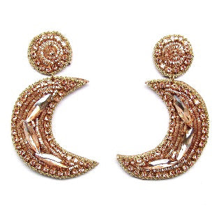 MOON EARRINGS- GOLD