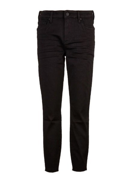 CONNIE HIGH RISE FAB AB ANKLE SKINNY- BLACK