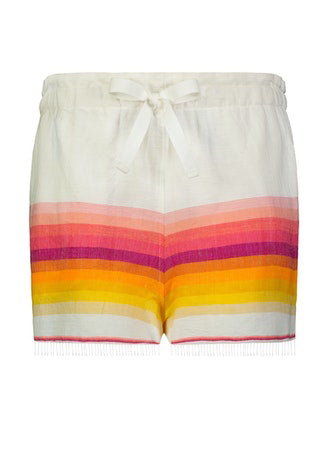 TEREF DRAWSTRING SHORTS - FIREBRICK