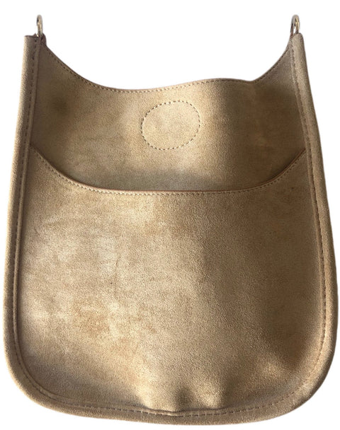 MINI SUEDE MESSENGER BAG- CAMEL