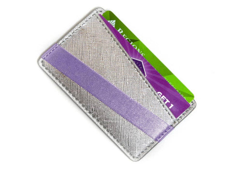 PHONE BACK WALLET - PLATINUM/LAVENDER
