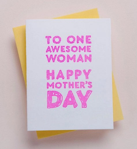 AWESOME WOMAN CARD