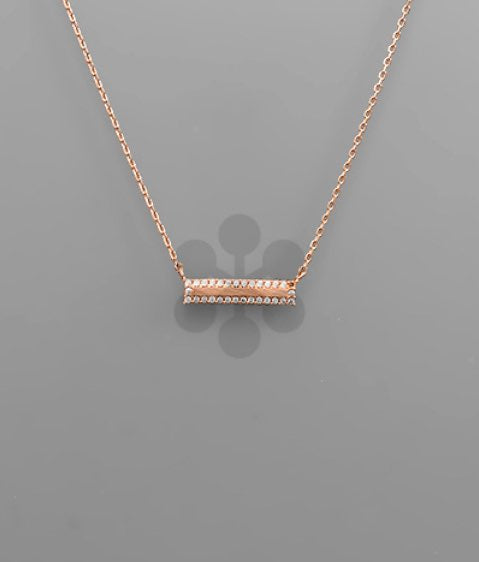 BAR NECKLACE- ROSE GOLD