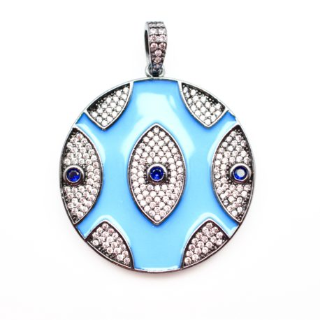 ENAMEL EVIL EYE ATTACHMENT