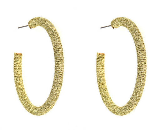 LARGE TAYLOR HOOP EARRING - GOLD