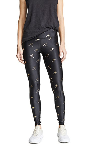 GOLD SPARKLE FOIL TALL BAND LEGGING