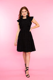 JOE JOE DRESS- BLACK LATTICE