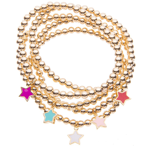 GIBSON COLLECTIVE CANDY STAR CHARM BRACELET- SOFT PINK
