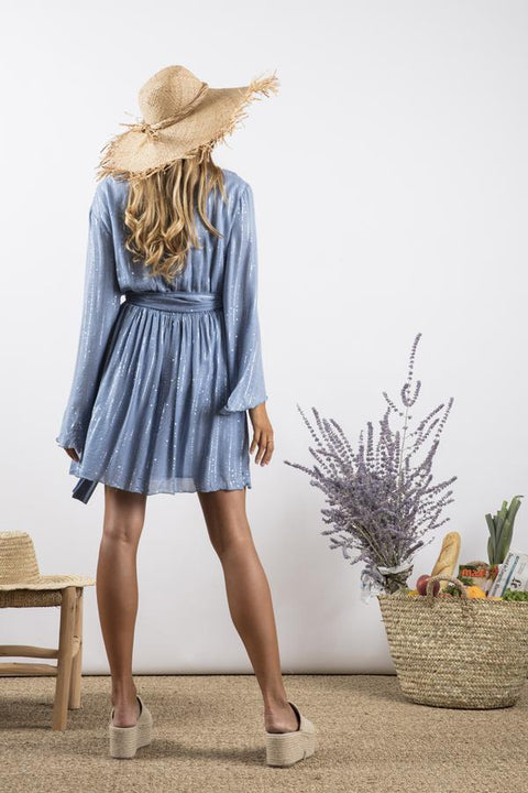 NATALY DRESS- BLUE