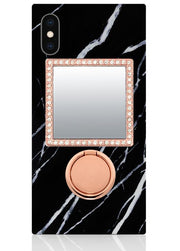 ROSE GOLD PHONE MIRROR W/ CRYSTALS