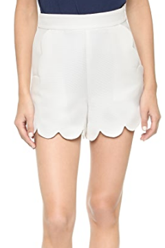 SCALLOPED EDGE SHORTS