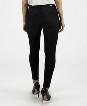 DONNA HIGH RISE ANKLE SKINNY JEANS- BLACK