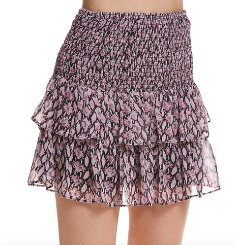 MARITA SKIRT- PINK/BLACK