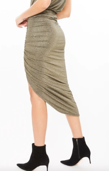 JOY LUREX SKIRT- BLACK/GOLD