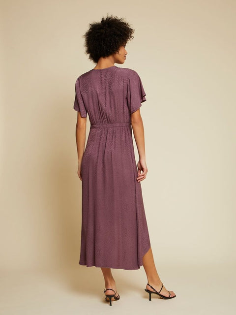 TRISTA EASY WRAP DRESS- PLUMMY