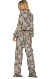 RIOT LOUNG PANT- FOUR LEAF CLOVER