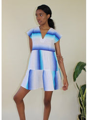 TEREF SHORT DRESS - TURQUOISE