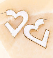 MIGNONNE GAVIGAN HEART FIONA HOOP EARRINGS- WHITEGOLD