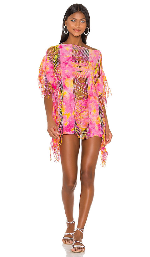 PILY Q CROPPED MONIQUE COVERUP - TIE DYE