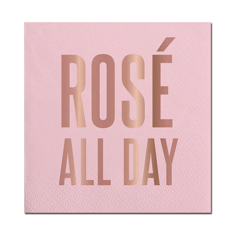 "ROSE GOLD 5"" ROSE ALL DAY NAPKIN- PINK"