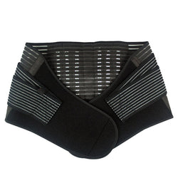 1pc Durable Black Waist Support Brace Belt Lumbar Lower Waist Double Adjustable Back Belt For Pain Relief Free Shipping