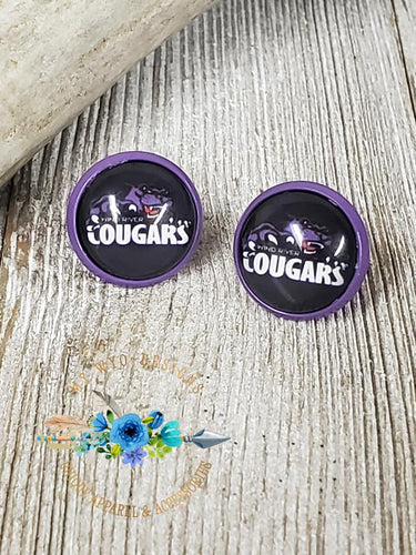 Wind River Cougars~School Spirit~ Earrings #177