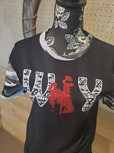 "Wyo ""Petroglyphs on the Ridge"" Aztec Tee"