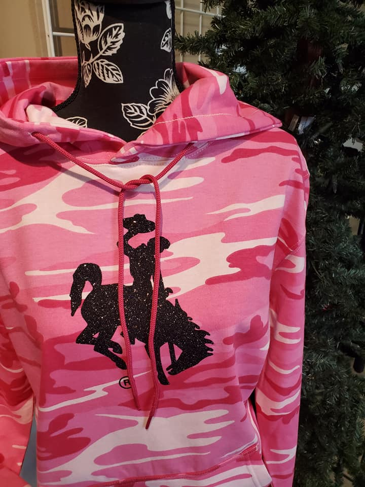 Country Girl Tough in Pink Camo Hoodie