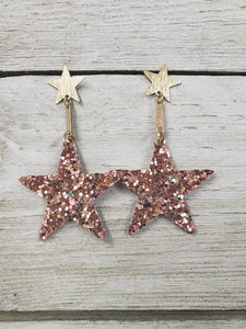 In the Stars Glitter ~Rose Gold~ Earring #120