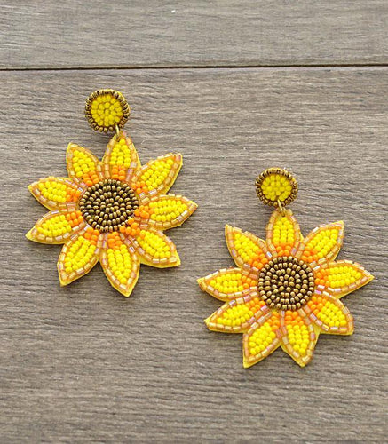 Sunflower Seed Bead Earrings ~Dangle~ - My Wyo Designs