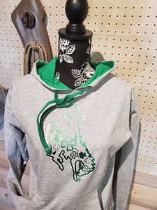"Shamrock ""lucky charm""French Terry Hoodie"