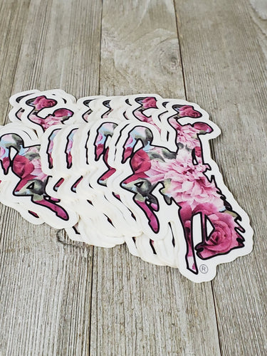Pretty in Floral Waterproof Bucking Horse Decal