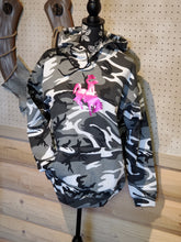 Country Girl Tough~ in Grey & White Camo Hoodie