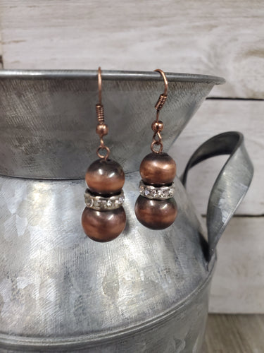 Navajo Pearl Inspired Earrings ~Copper~