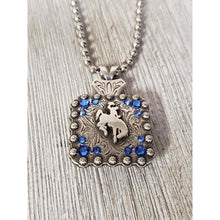 Steamboat Bucking Horse Bead Ball Necklace-Silver (All Colors) - My Wyo Designs
