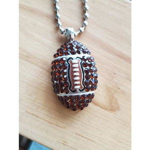 Large Crystal Football Necklace - My Wyo Designs