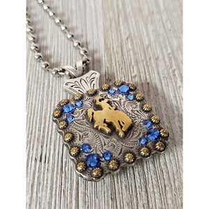 Steamboat Bucking Horse Bead Ball Necklace-gold (All Colors) - My Wyo Designs