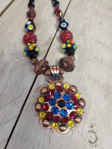 Primary Bright Copper Western necklace - My Wyo Designs