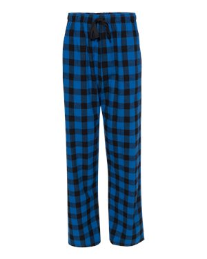 Flannel Buffalo Check Pants Royal/Black