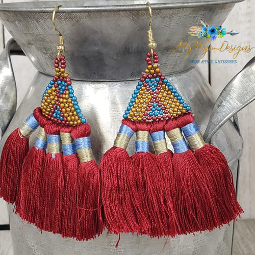 Boho Silk Tassel Earrings (more colors) - My Wyo Designs