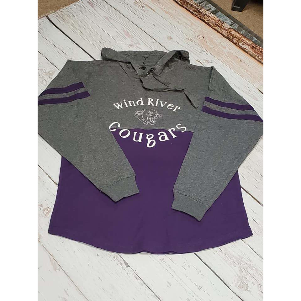 Wind River Cougars Hooded Jersey Tee - My Wyo Designs