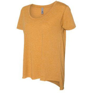 Wyo Gold Bucking Horse Festival Scoop Neck tee-glitter - My Wyo Designs