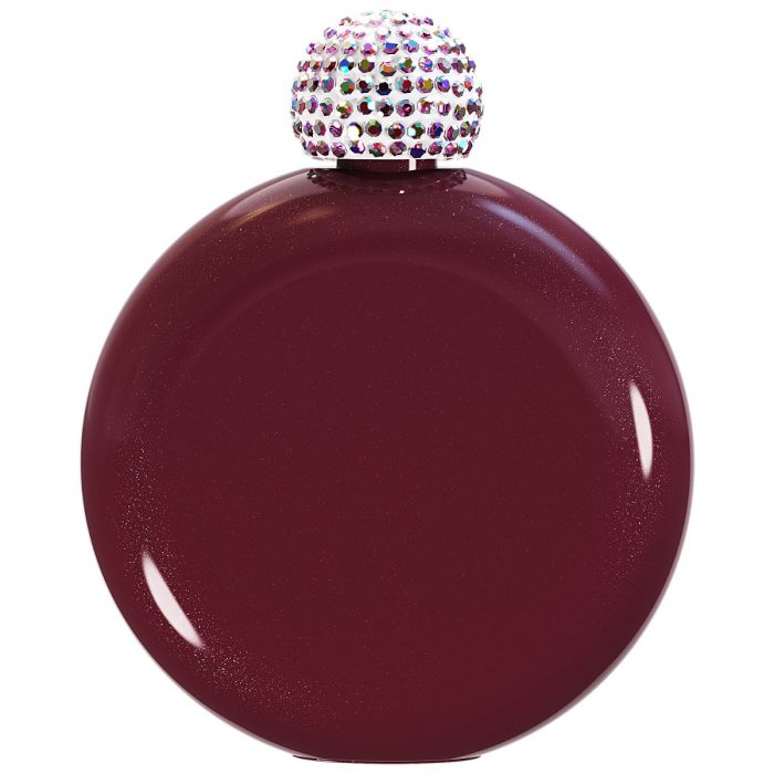 Crystal Glam Flask ~Maroon Sparkle~