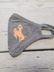 Bucking Horse Jersey Mask Athletic Heather Grey ~More Colors~