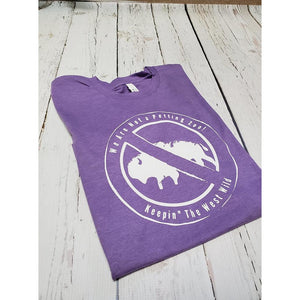 "Keepin"" the West Wild Tee/Heather Purple - My Wyo Designs"