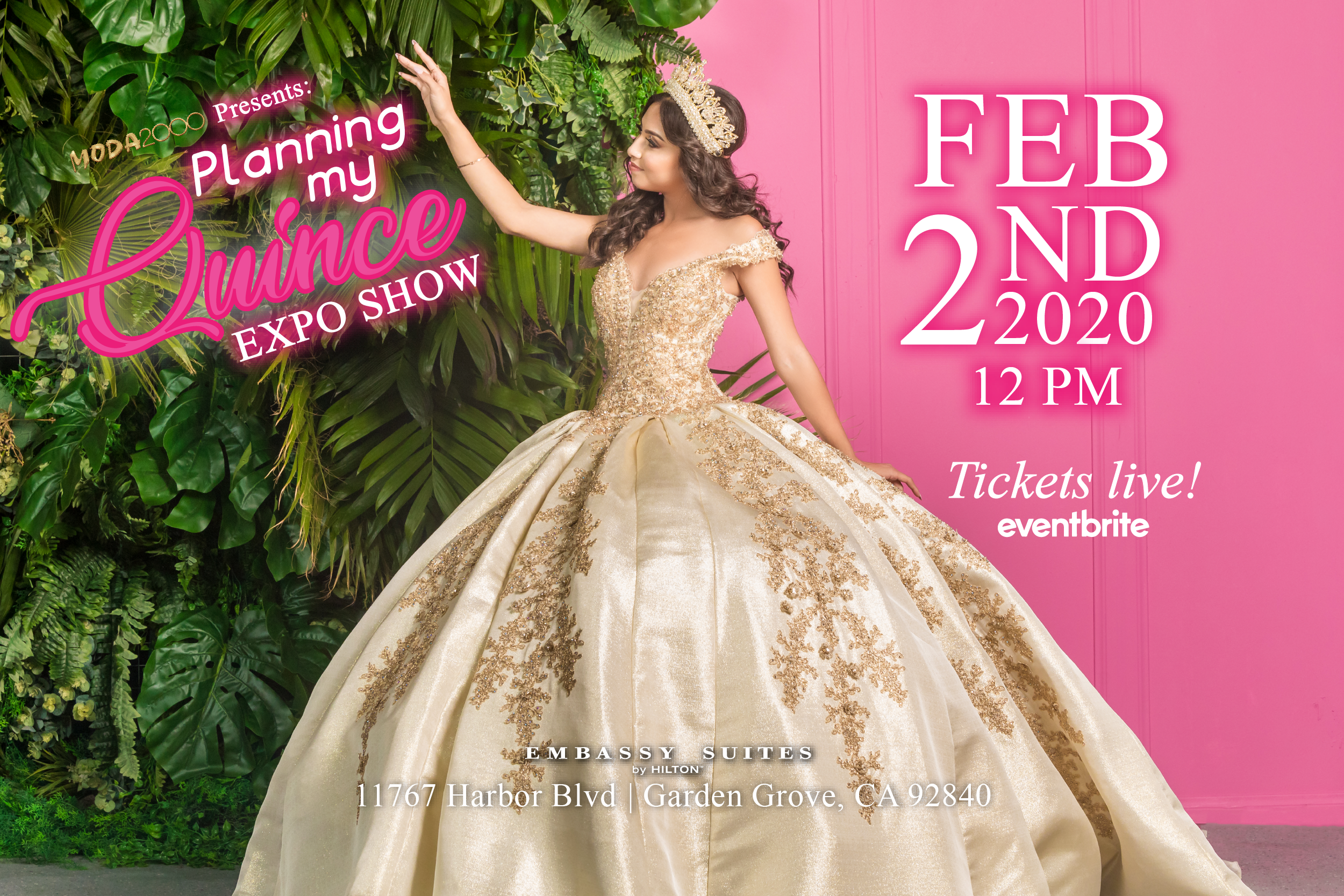 Planning My Quince Expo Show February 2nd 2020 Eventbrite Tickets Moda 2000