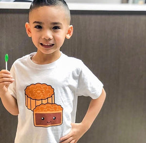 Mooncake 🥮 Lunar New Year T-Shirt - White - Gigil Clothing
