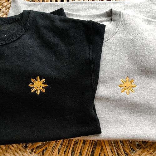 Gigil Embroidered Sunshine Crewneck - Adult - Gigil Clothing
